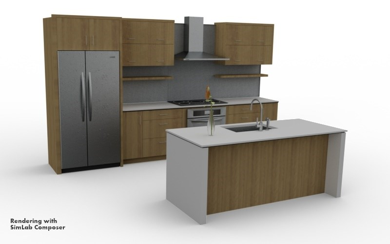 designing kitchens with sketchup for kitchen design 0 moore - Sketchup Kitchen Design